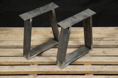 Steel Bench Legs,SET (2) We can make this legs in any shape, size or length. Get in touch for a custom quote via Etsy or email : biurodiyshop@gmail.com DIMENSIONS: Height: 40 cm - 16 Width: 35 cm -14 MATERIAL: 60 x 20 mm square tube FINISHING *RAW STEEL/non coated We offer powder coat in many colors. *BLACK matte (RAL 9005) *WHITE ( RAL 9010) *RED (RAL 3001) *MINT (RAL 6027) *GOLD (RAL 1036) *ANTHRACITE (RAL 7016) *BLUE structure (RAL 5017) *CLEAR COAT *SILVER You have a different f...