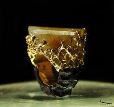 - Ouro - Quartzo Rutilado- Joias Ricardo Coacci Madeira, ouro e pedra Quartzo Rutilado
