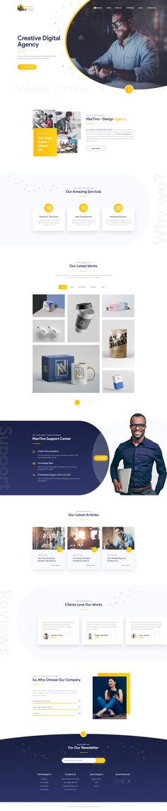 Buy Maxtino - Personal Portfolio PSD Template by DENYSTHEMES on ThemeForest. Maxtino it is template, which you can use for multipurpose like minimal portfolios, agencies, freelancers portfolios . Layout Web, Website Design Layout, Wordpress Website Design, Layout Design, Personal Website Design, Website Designs, Website Ideas, Creative Web Design, Web Ui Design