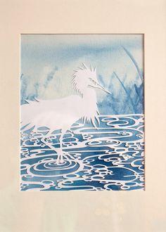 Heron Papercut  Ezra Reimer 2012