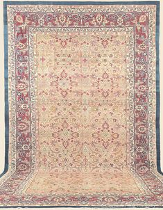 "AGRA, 10' 6"" x 18' 9"" — Late 19th Century —Price: $13,000, Northern India Antique Rug - Claremont Rug Company  Click to learn more about this rug."