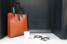 Coffee with a friend - the Talbot tote. Leather Satchel, Talbots, Parka, Madewell, London, Unisex, Tote Bag, Coffee, Kaffee