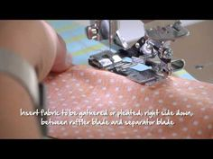 ▶ BERNINA accessories -- ruffler no. 86 - YouTube***How to use a ruffler foot****