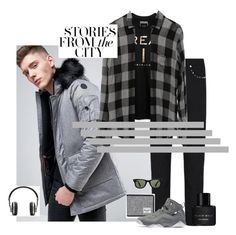 """""""Stories from the city"""" by sahrish-hossain ❤ liked on Polyvore featuring Native Youth, Valentino, Sean John, Rails, Herschel Supply Co., NIKE, Master & Dynamic, Ray-Ban, Kenneth Cole and men's fashion"""