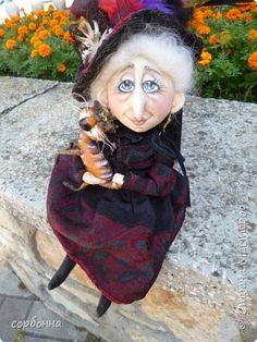 Куклы Шитьё грунтованный текстиль бабки Ежки и Домовички Ткань фото 10