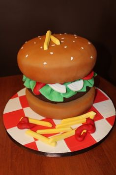 burger cake- awesome.