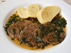 Celý sval masa opláchneme, osušíme a vetřeme do něj sůl a mletý pepř. Pro lepší držení tvaru maso utáhneme provázkem.V papiňáku na rozehřátém oleji orestujeme .... Pot Roast, Pork, Food And Drink, Beef, Cooking, Ethnic Recipes, Women's Fashion, Fine Dining, Carne Asada