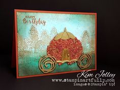 Stampin Artfully: Thoughtful Branches {Gypsy Wagon} and Swirly Squiggles dies - I see a Cinderella carriage being made with this. What a great idea.