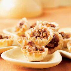 Harvest Sweet Potato Pecan Pie Tarts - Holiday Appetizers Under 100 Calories