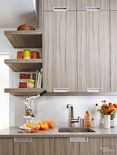 We have space-saving ideas to free up room on your kitchen countertop and bathroom countertop! Using our organization tips you can increase the space in these high traffic rooms with ease - you'll love these smart ideas!
