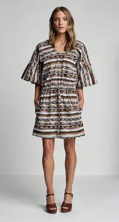 CONGO STRIPE PRINT DRESS