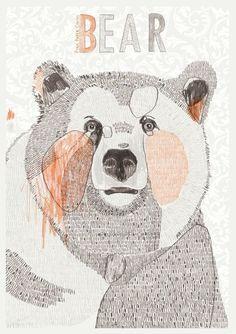 Bear print // #SicEmBears