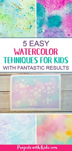 These easy watercolor techniques for kids are perfect for all ages and offer endless possibilities for creativity and fun. Kids will love exploring these watercolor painting ideas that produce magical and unexpected results! Kids Watercolor, Watercolor Projects, Watercolor Techniques, Painting Techniques, Watercolour, Watercolor Paintings, Painting Activities, Art Activities For Kids, Preschool Art