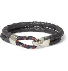 MiansaiWaypoint Woven-Leather Bracelet|MR PORTER