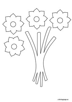 Bouquet flowers template