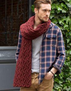 730bd0e96c88 Modèle écharpe Homme Echarpe Crochet, Modèles De Crochet, Tricot Et  Crochet, Tricot Gratuit
