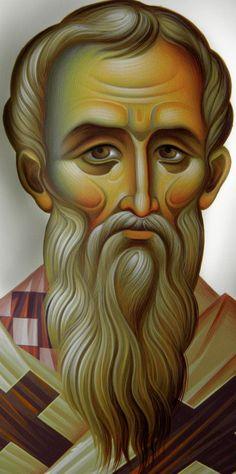 Byzantine Icons, Byzantine Art, Religious Icons, Religious Art, Greek Icons, John Chrysostom, Art Icon, Orthodox Icons, Sacred Art