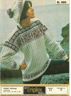 Old Books, Vintage Knitting, Bunt, Embroidery Patterns, Norway, Tatting, Scandinavian, Pullover, Drawings