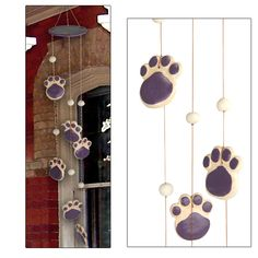 Handmade+Ceramic+Purple+Paw+Chime+at+The+Animal+Rescue+Site