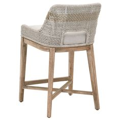 Our Turin Bar Stool features an intricately woven rope design, adding flair to any dining or casual living setting. Shop bar and counter stools. White Counter Stools, Bar Counter, Rattan Counter Stools, Counter Height Bar Stools, Island Chairs, Kitchen Stools, Kitchen Island, Kitchen Seating, Bar Furniture
