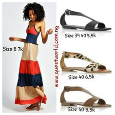 #TGIF #dress #sandals www.questworld.com.ng #pay on delivery