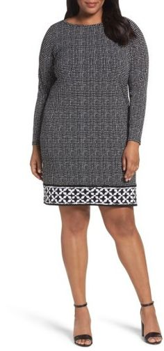 6c762179da0 Plus Size Women s Michael Michael Kors Nezla Border Print Jersey Shift Dress