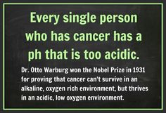 Interesting!  Greens from It Works Global can help balance your Ph and Alkalize your body! Cancer cannot survive in an Alkalized body! Buy your IT WORKS GREENS today! http://tiaedwards.myitworks.com/shop