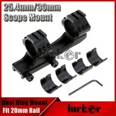 KINSTTA 25mm 30mm Tactical Double Scope Rings Dual Ring Cantilever Scope Mount 20mm Picatinny Weaver Rail Hunting Rail Mount