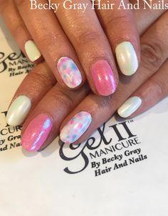 #gelii #manicure beach blush #chrome #nailart #marble #watercolour #showscratch #scratchmagazine