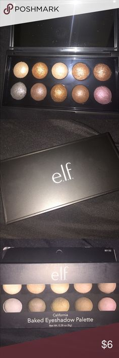 "Elf Baked Eyeshadow ""California"" Brand new with tags! In perfect condition completely unworn and unswatched :)  Shadows work best with a wet brush for better pigmentation!   Make an offer/bundle for a lower price! Free with a purchase of $10 OR an order of 2 or more items! elf Makeup Eyeshadow"