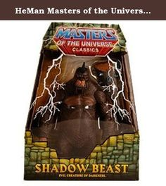 HeMan Masters of the Universe Classics Exclusive 9 Inch Deluxe Action Figure Shadow Beast. A tool of the heinous magician Count Marzo, Shadow Beasts were created with one purpose and one purpose only to annihilate the enemies of magic during the Great Unrest! Standing at over 9 tall, this fully articulated, oversized Shadow Beast figure is even more fearsome when equipped with a magical wooden club of destruction. Fortify your collections primitive powers with an entire army of…