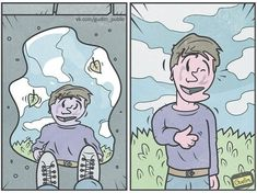 Anton Gudim the most sarcastic humor illustration ever. #humor #ilustration #comic