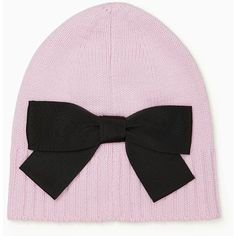Kate Spade Beanie With Grosgrain Bow ($48) ❤ liked on Polyvore featuring accessories, hats, beanie cap, kate spade, beanie cap hat, bow beanie and kate spade hat