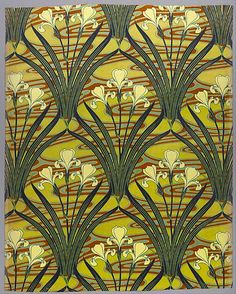French Cotton, 1897-8, Iris D'Eau pattern