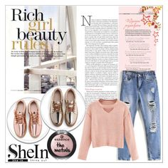 """""""Outfit inspired by SHEIN"""" by mayabee88 ❤ liked on Polyvore featuring WithChic, MustHave, Sheinside, polyvoreeditorial and shein"""