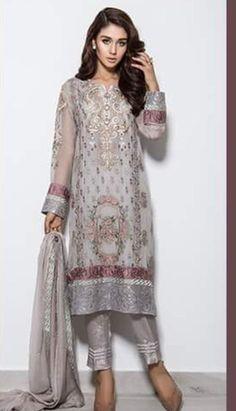 Pakistani Dress  Barouqe Chiffon Straigth Shirt by KaamdaniCouture