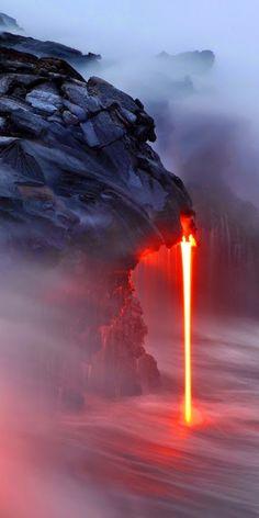 Amazing Lava-fall. - Imgur