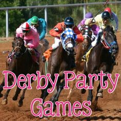 Derby Party Games - The Preppy Planner Horse Racing Party, Horse Race Game, Race Party, Derby Games, Kentucky Derby Hats, Kentucky Derby Party Ideas, Kentucky Derby Fashion, Derby Horse, Derby Day