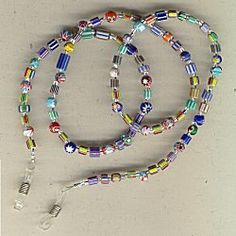 IDEA: Chevron Beads Eyeglass Chain (eebeads.com) Would be easy to make into a Necklace, instead!!!