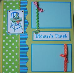 cute idea ~ scrapbook page for 1st birthday :)