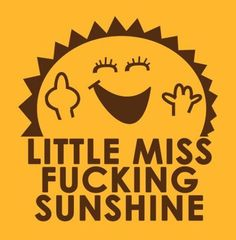 Little Miss F**king Sunshine Sticker Funny Humor Rude Snarky Parody Decals LOL