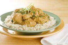 Poulet Dhansack (poulet à l'indienne, aux épinards et à l'aubergine)
