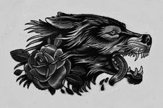 traditional wolf tattoo - Google Search