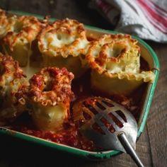Lasagnes roulées à la courge, ricotta & épinards  - Recette | Trois fois par jour
