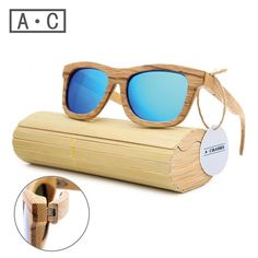 f99c510f406 WS10033 - Bamboo and Wood Frame Sunglasses with Wood Storage Case. Riglook.  New Fashion Products Men Women Wooden Polarized Sunglasses Retro Wood Lens  ...