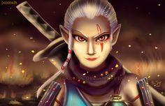 Hyrule Warrior Impa by Cascadena