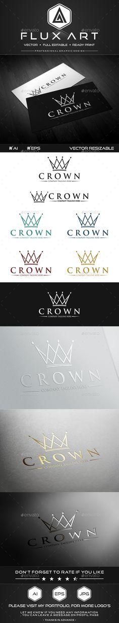 Royal Crown Logo Template #design Download: http://graphicriver.net/item/royal-crown-logo/10172266?ref=ksioks