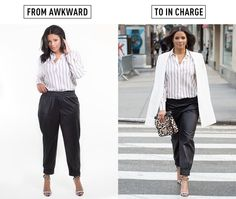 9 easy ways to make your outfits instantly cooler. Joggers, drawstring trousers, and silk pyjama-styles are meant to be worn low across your hips, not up around your natural waist. Keep your top loose and blousy, then add some structure and sophistication with a tailored jacket, high heels and a boxy ba