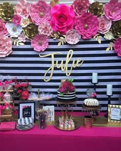 44 ideas for kate spade bridal shower theme ideas Kate Spade Party, Kate Spade Bridal, Kate Spade Cake, 40th Birthday Parties, Birthday Party Decorations, 50th Birthday Party For Women, Birthday Celebration, Decoration Evenementielle, Sweet 16 Themes