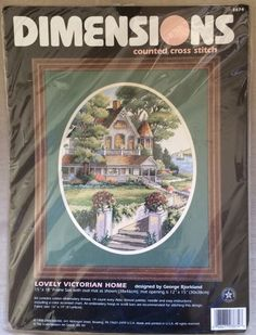 Dimensions Lovely Victorian Home George Bjorkland Cross Stitch Kit 1998 NEW in Kits | eBay